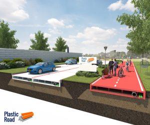 Al posto dell'asfalto, il manto stradale in plastica riciclata. Ancora una volta l'importanza dei processi di riciclo incontrano un innovativa idea di utilizzo. Rivestimento stradale con plastica riciclata.
