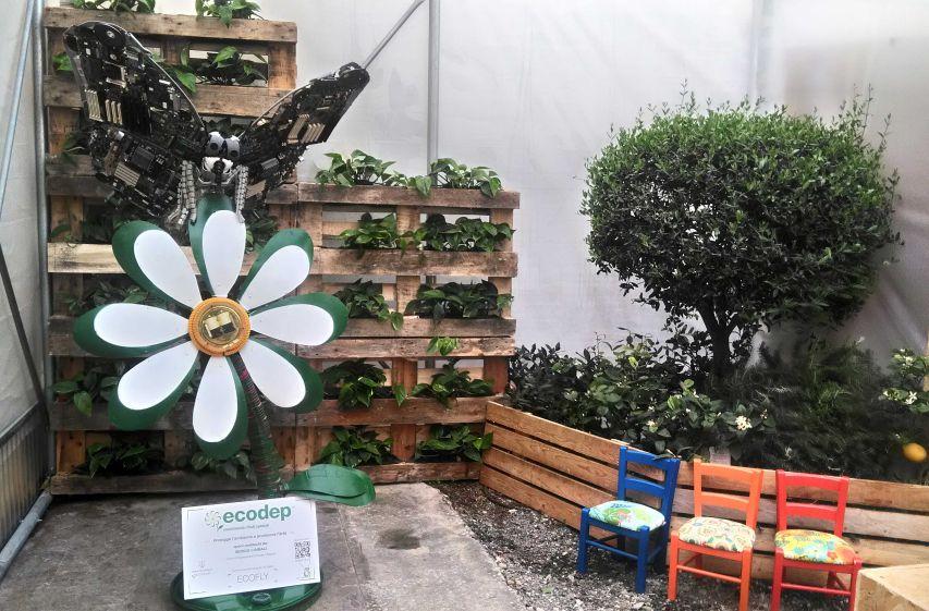 Siracusa: con un opera d'arte realizzata con Rifiuti e materiali di riciclo, Ecodep e lo scultore Sergio Cimbali, lanciano un messaggio per l'ambiente.