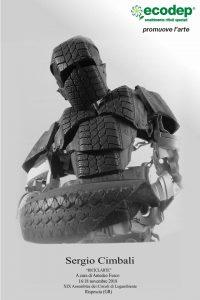L'artista Sergio Cimbali espone, con il sostegno di Ecodep, le sculture realizzate con materiali di riciclo - XIX Assemblea di Legambiente a Rispescia (GR)