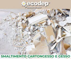 Smaltimento Cartongesso e Gesso. Ecodep, azienda certificata, si propone come impianto di destinazione dei rifiuti quali CARTONGESSO E GESSO.
