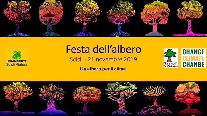 Un albero per il clima - festa dell'albero. Il 21 novembre Legambiente Scicli in collaborazione con Ecodep coinvolge le scuole per piantare nuovi alberi.