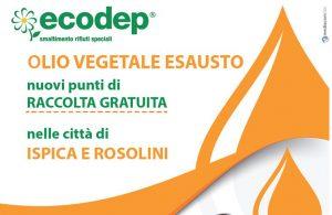 Olio vegetale esausto - nuovi punti di raccolta gratuita. Istallati da Ecodep i contenitori per la RACCOLTA GRATUITA dell'olio vegetale esausto.
